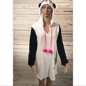 JOE BOXER Panda Fleece Robe Size 2XL